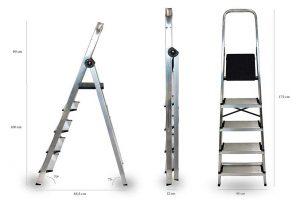 Escalera de aluminio plegable | Las mejores escaleras de aluminio plegables