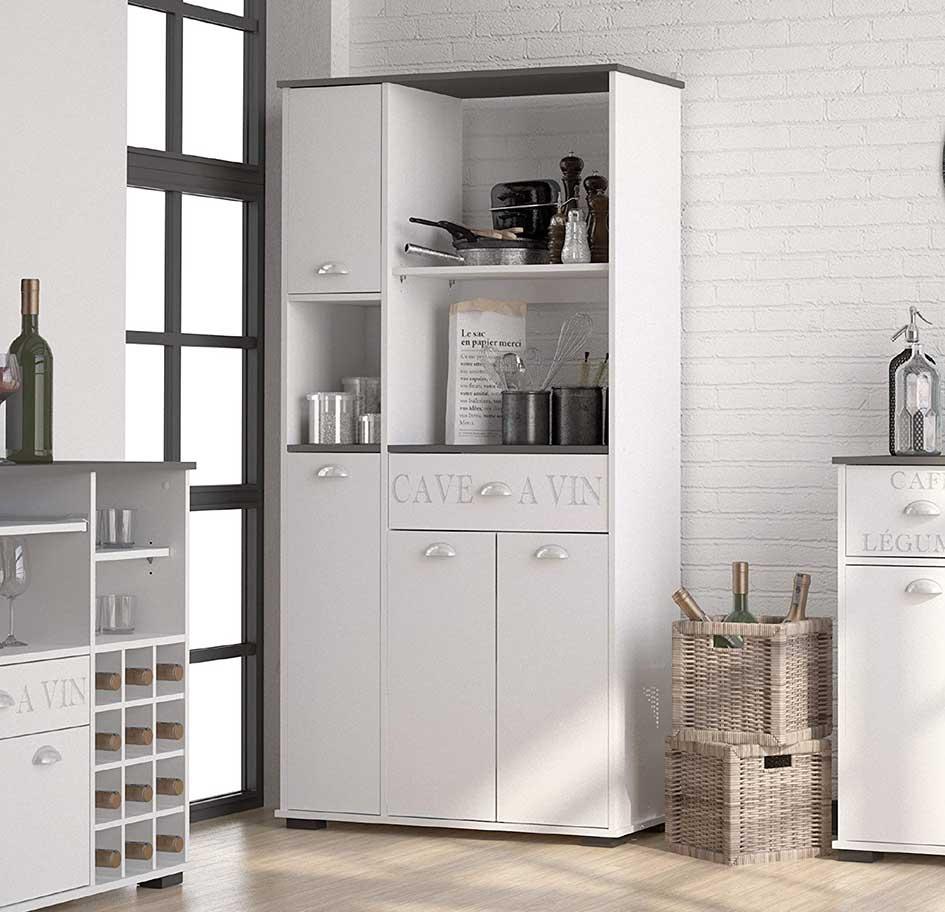 Abitti Mueble Auxiliar de Cocina en Color Blanco con un ...